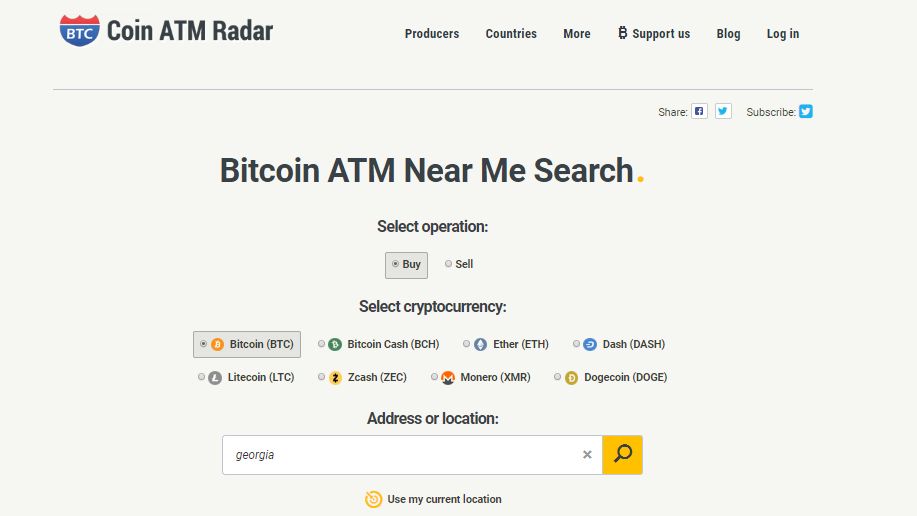 how to use Coinatmradar