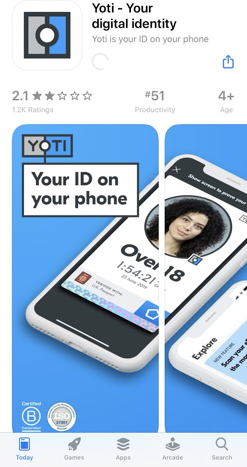 How to use yoti app