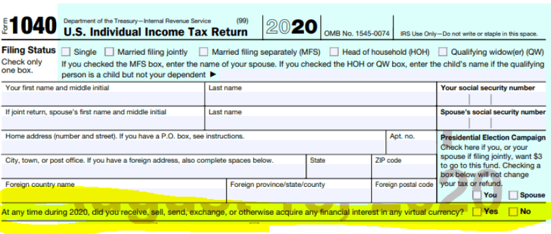 Form 1040 US Tax