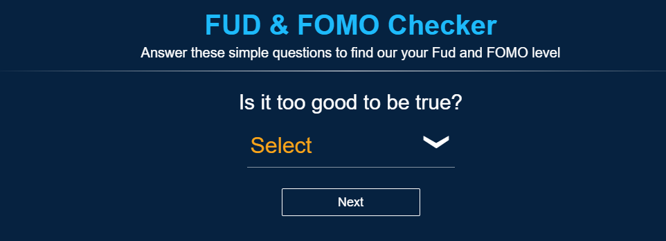 Fomo Fud Calculator